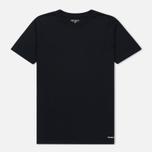 Комплект мужских футболок Carhartt WIP Standart Crew Neck White/Dark Navy фото- 1