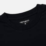 Комплект мужских футболок Carhartt WIP Standart Crew Neck White/Dark Navy фото- 2