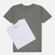Комплект мужских футболок Carhartt WIP Standart Crew Neck White/Grey Heather фото- 0