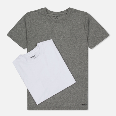 Комплект мужских футболок Carhartt WIP Standart Crew Neck White/Grey Heather