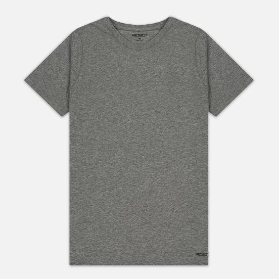 Комплект мужских футболок Carhartt WIP Standart Crew Neck White/Grey Heather