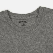 Комплект мужских футболок Carhartt WIP Standart Crew Neck White/Grey Heather фото- 2