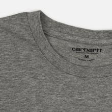 Комплект мужских футболок Carhartt WIP Standart Crew Neck White/Grey Heather фото- 3