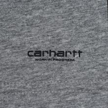 Комплект мужских футболок Carhartt WIP Standart Crew Neck White/Grey Heather фото- 4