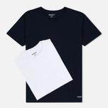 Комплект мужских футболок Carhartt WIP Standart Crew Neck White/Navy фото- 0