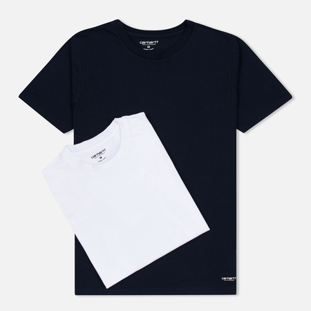 Carhartt WIP Standart Crew Neck Men's T-shirts White/Navy