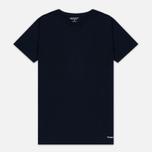 Комплект мужских футболок Carhartt WIP Standart Crew Neck White/Navy фото- 1