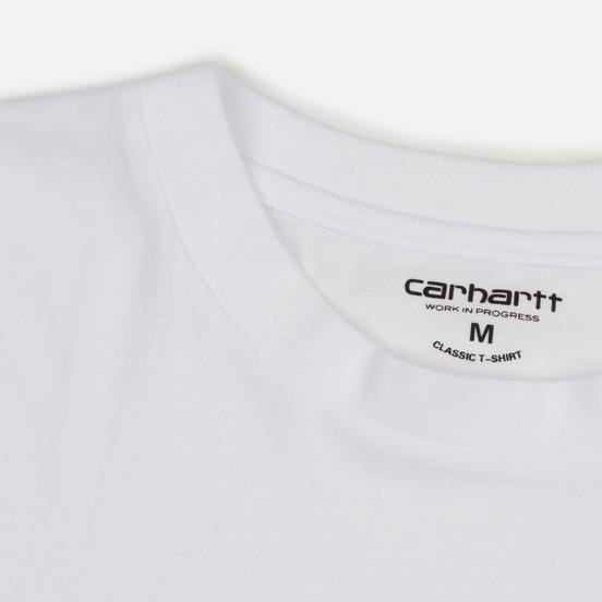 Комплект мужских футболок Carhartt WIP Standart Crew Neck White/White