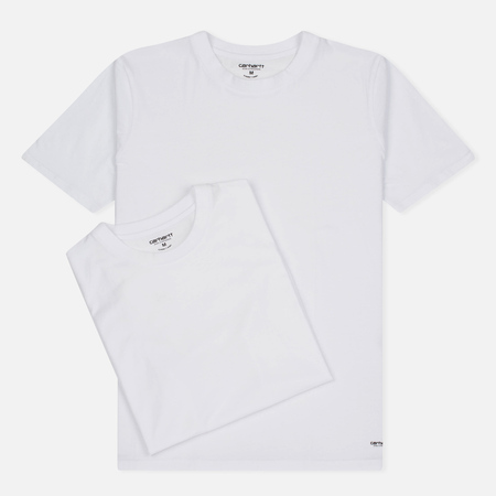 Carhartt WIP Standart Crew Neck Men's T-shirts Pack White/White