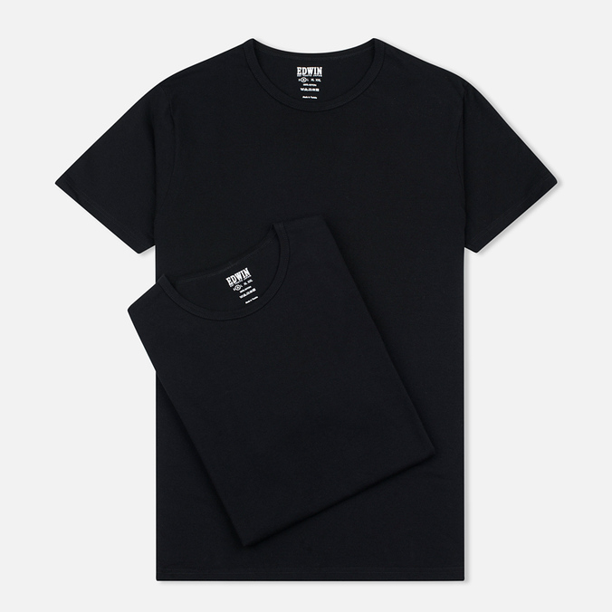 Комплект мужских футболок Edwin Double Pack SS Black