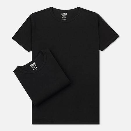 Комплект мужских футболок Edwin Double Pack SS Black Envelop