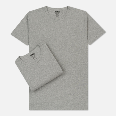 Комплект мужских футболок Edwin Double Pack SS Grey Marl Envelop