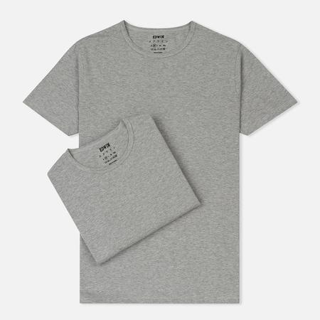 Комплект мужских футболок Edwin Double Pack SS Tubular Grey Marl Envelop