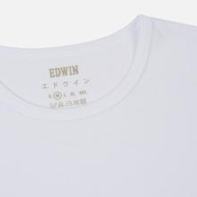 Комплект мужских футболок Edwin Double Pack SS Tubular White Envelop фото- 2