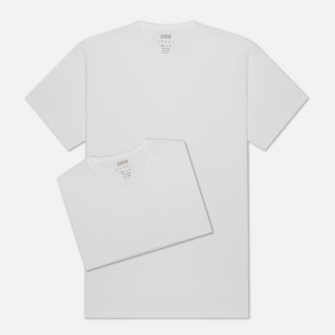 Комплект мужских футболок Edwin Double Pack SS Tubular White Envelop