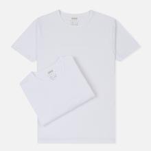 Комплект мужских футболок Edwin Double Pack SS Tubular White Envelop фото- 0