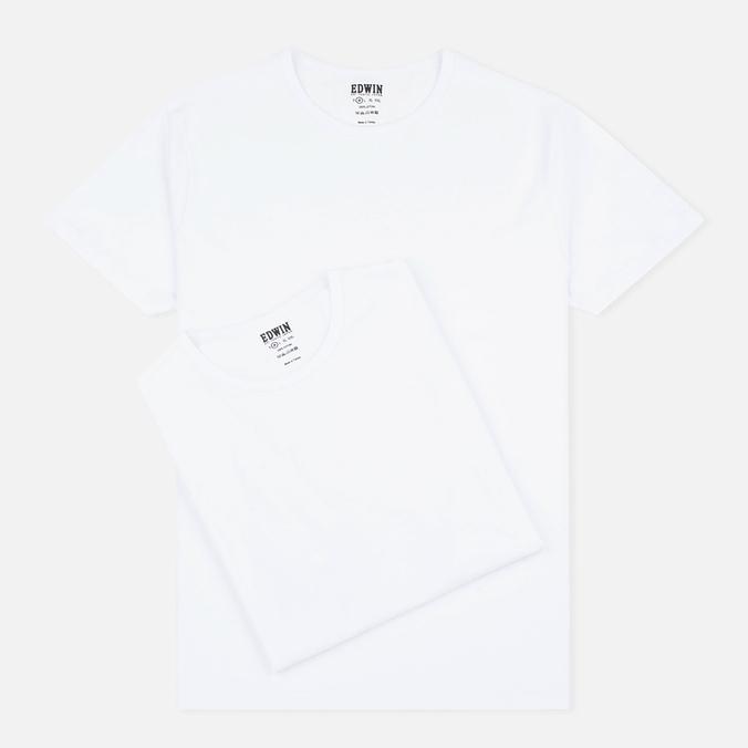 Комплект мужских футболок Edwin Double Pack SS White