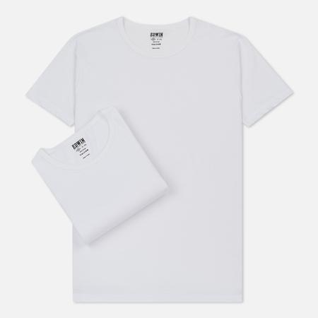 Комплект мужских футболок Edwin Double Pack SS White Envelop