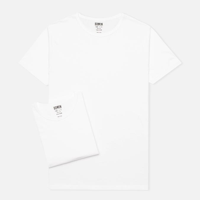 Комплект мужских футболок Edwin Double Pack White