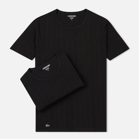 Комплект мужских футболок Lacoste Underwear 2-Pack Crew Neck Black/Black