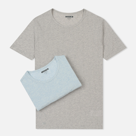 Комплект мужских футболок Lacoste Underwear 2-Pack Crew Neck Grey/Blue Heather