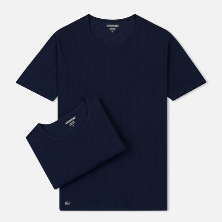 Комплект мужских футболок Lacoste Underwear 2-Pack Crew Neck Navy/Navy