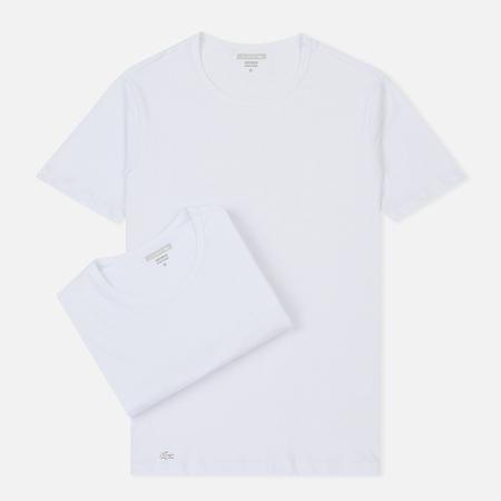 Комплект мужских футболок Lacoste Underwear 2-Pack Crew Neck White/White