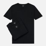Комплект мужских футболок Lacoste Underwear 3-Pack Classic Fit Crew Neck Black фото- 0