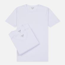 Комплект мужских футболок Lacoste Underwear 3-Pack Classic Fit Crew Neck White фото- 0