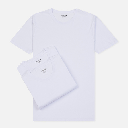 158a908b7e22045 Комплект мужских футболок Lacoste Underwear 3-Pack Classic Fit Crew Neck  White