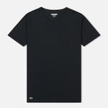 Комплект мужских футболок Lacoste Underwear 3-Pack Crew Neck Black/Grey/White фото- 5