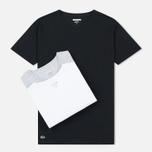 Комплект мужских футболок Lacoste Underwear 3-Pack Crew Neck Black/Grey/White фото- 0