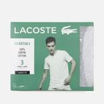 Комплект мужских футболок Lacoste Underwear 3-Pack Crew Neck Black/Grey/White фото- 6
