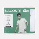 Комплект мужских футболок Lacoste Underwear 3-Pack V-Neck White/White/White фото- 4