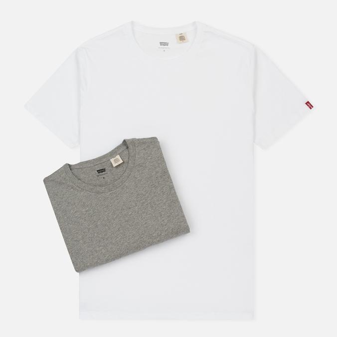 Комплект мужских футболок Levi's 2 Pack Heather Grey/White