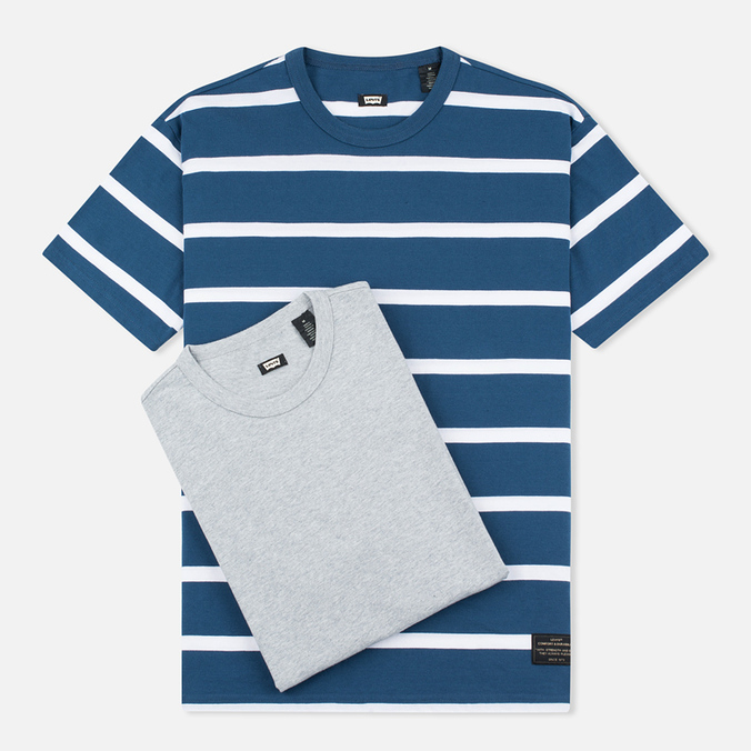 Комплект мужских футболок Levi's Skateboarding 2 Pack Grey/Lotus Blue Stripe