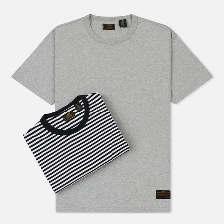 Комплект мужских футболок Levi's Skateboarding 2 Pack Heather Grey/Black White
