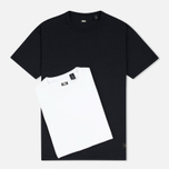 Levi's Skateboarding 2 Pack Men's T-shirt White/Jet Black photo- 0