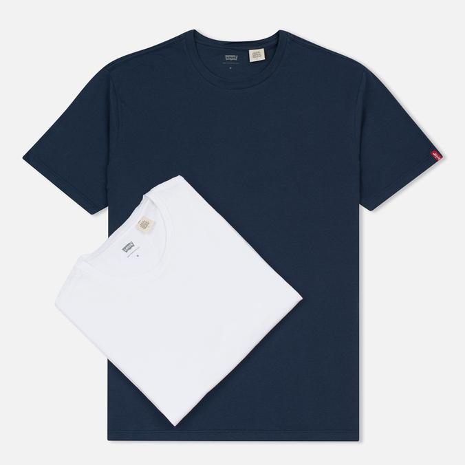 Комплект мужских футболок Levi's 2 Pack Navy/White