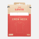 Комплект мужских футболок Levi's 2 Pack White/White фото- 4