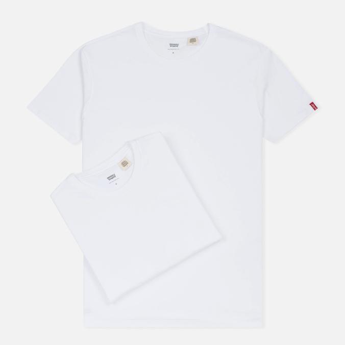 Комплект мужских футболок Levi's 2 Pack White