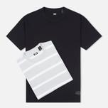 Levi's Skateboarding 2 Pack Stripe Men's T-shirt Black/Grey photo- 0