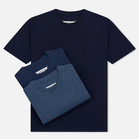 Комплект мужских футболок Maison Margiela 3-Pack Classic Light/Medium/Dark Indigo