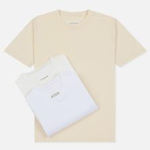 Комплект мужских футболок Maison Margiela 3-Pack Classic White/Off White/Cream фото- 0