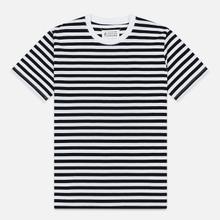 Комплект мужских футболок Maison Margiela 3-Pack Stereotype Stripes White Black/White Palace Blue/White Light Marine фото- 1