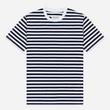 Комплект мужских футболок Maison Margiela 3-Pack Stereotype Stripes White Black/White Palace Blue/White Light Marine фото- 2