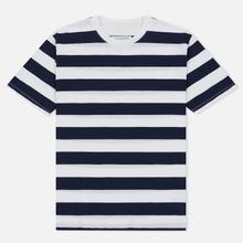 Комплект мужских футболок Maison Margiela 3-Pack Stripes Dark Marine/Bordeaux/Indigo фото- 1