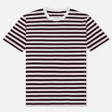 Комплект мужских футболок Maison Margiela 3-Pack Stripes Dark Marine/Bordeaux/Indigo фото- 2