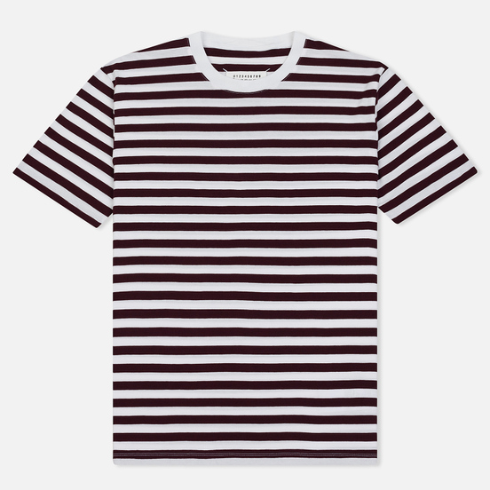 Комплект мужских футболок Maison Margiela 3-Pack Stripes Dark Marine/Bordeaux/Indigo