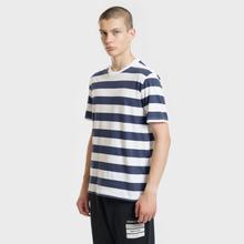 Комплект мужских футболок Maison Margiela 3-Pack Stripes Dark Marine/Bordeaux/Indigo фото- 4